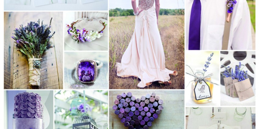 Matrimonio Tema Lavanda : Inspiration board lavender wedding