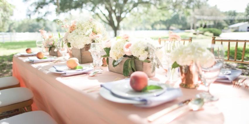 Matrimonio Tema Moderno : Matrimonio color pesca uno stile semplice e naturale
