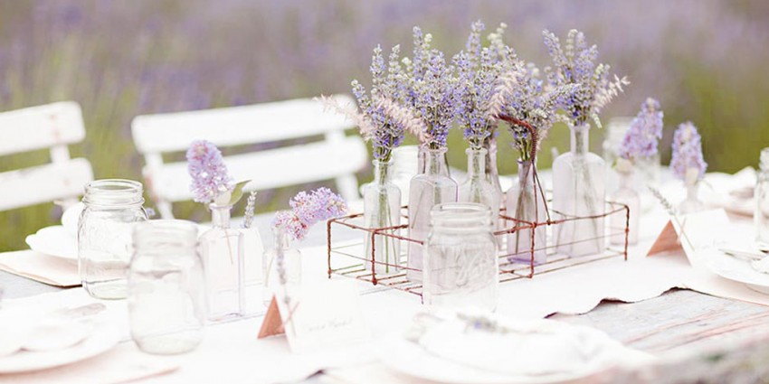 Addobbi Floreali Matrimonio Rustico : Matrimonio lavanda: come organizzare ogni piccolo dettaglio