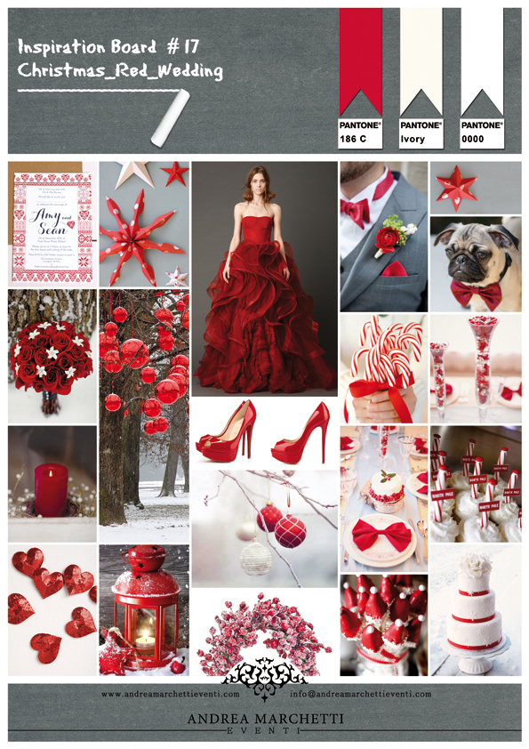 Partecipazioni Matrimonio Tema Natalizio : Inspiration board #17 christmas red wedding