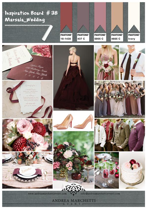 Matrimonio Tema Vino Colori : Come realizzare un matrimonio ispirato al colore marsala