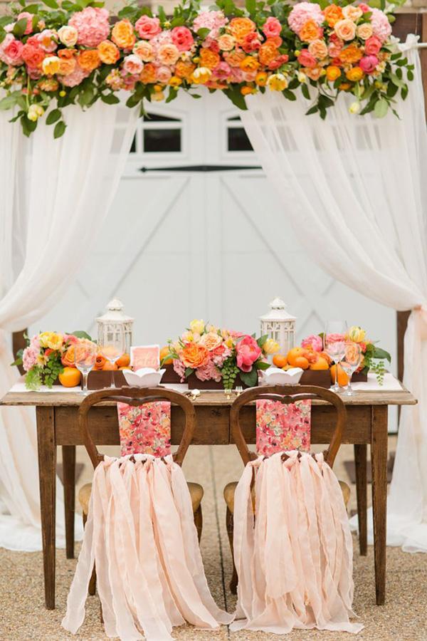 Popolare Come decorare il tavolo degli sposi TK46