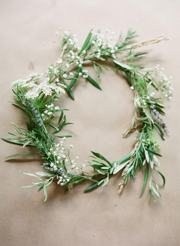 coroncina sposa erbe aromatiche