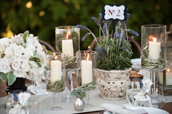 decorazioni tavola con erbe aromatiche