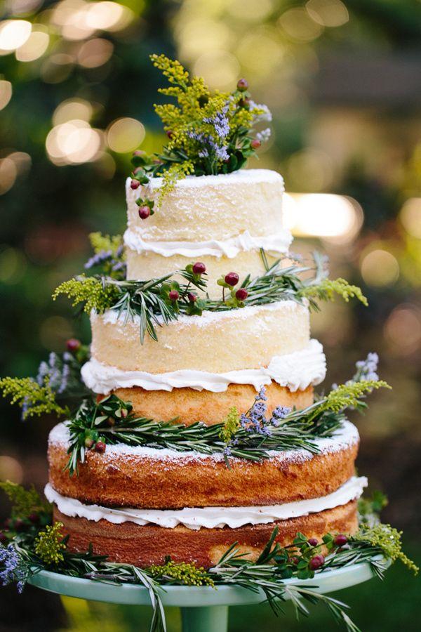 nude cake stile rustico