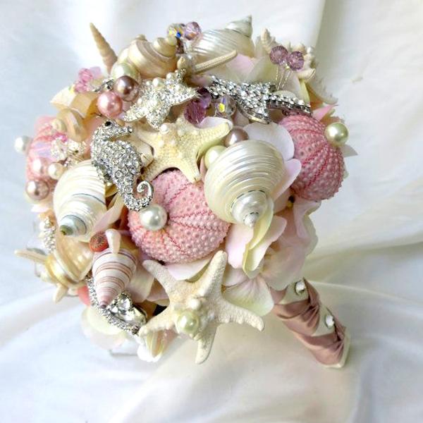 bouquet conchiglie rosa