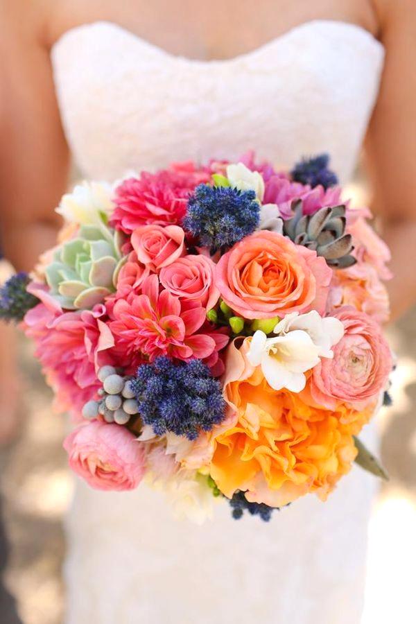 bouquet colorati sposa