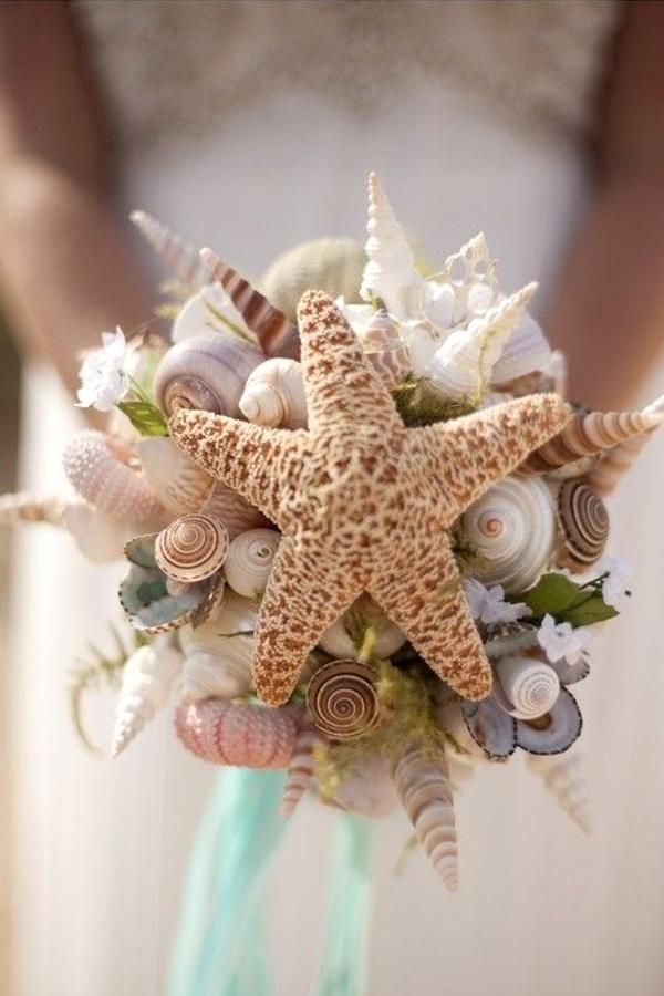 Bouquet Sposa Senza Fiori.Bouquet Di Conchiglie Perfetto Per Un Matrimonio Tema Mare
