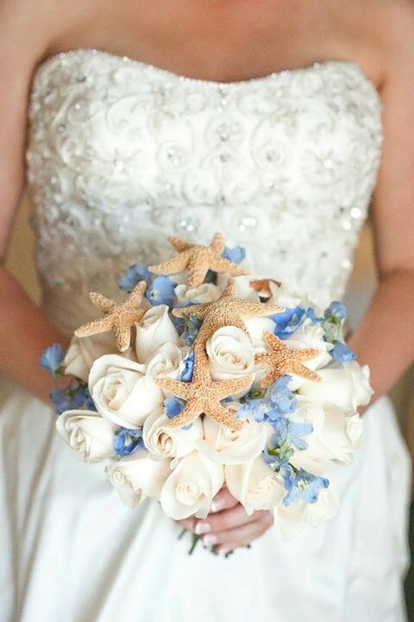 Bouquet Sposa Mare.Bouquet Di Conchiglie Perfetto Per Un Matrimonio Tema Mare