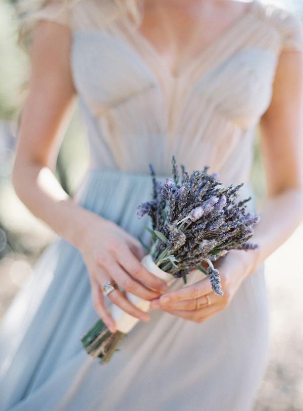 bouquet tema lavanda