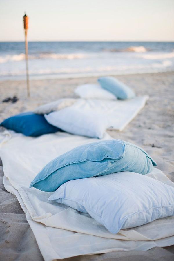 cuscini per matrimonio sulla spiaggia