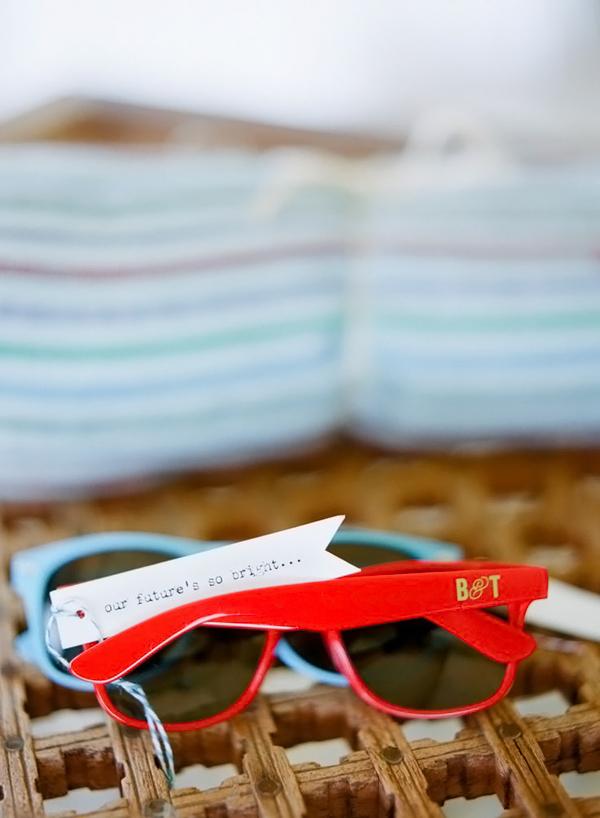 occhiali da sole gadget matrimonio