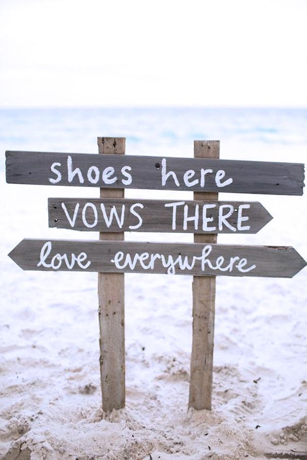 scarpe ospiti matrimonio spiaggia