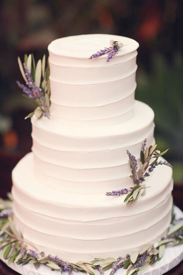 torta matrimonio panna lavanda