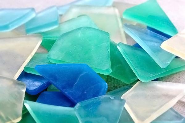 zucchero colorato effetto vetro rotto