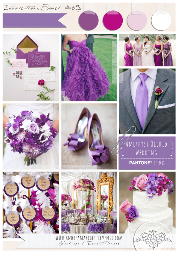 PANTONE Color Report Fall 2015 Amethyst Orchid Wedding