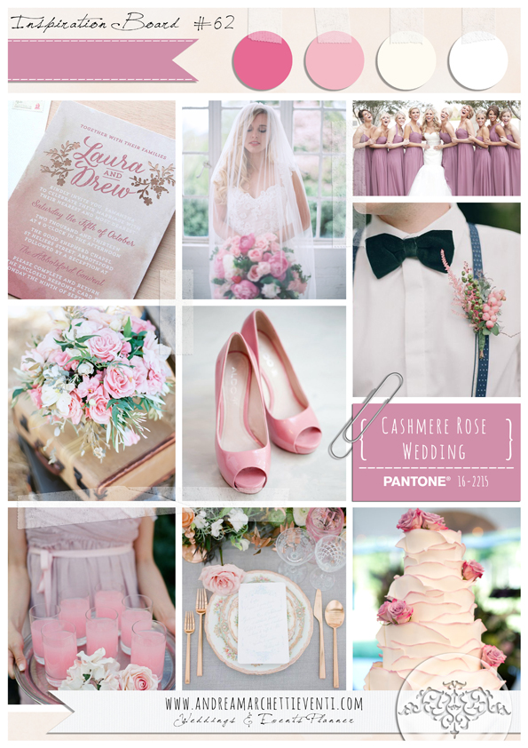 PANTONE Color Report Fall 2015 Cashmere Rose Wedding