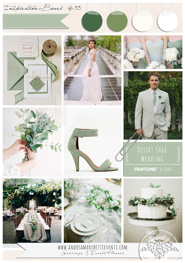 PANTONE Color Report Fall 2015 Desert Sage Wedding
