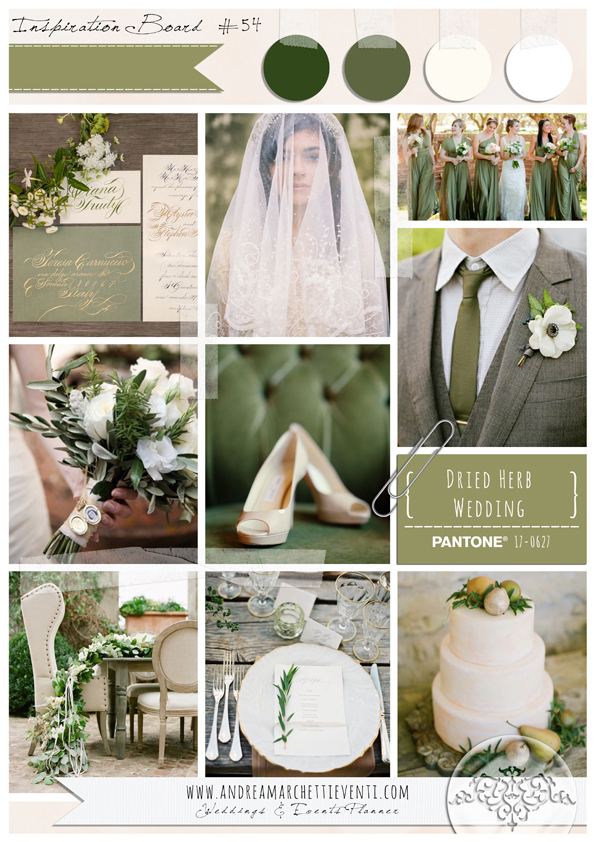 PANTONE Color Report Fall 2015 Dried Herb Wedding