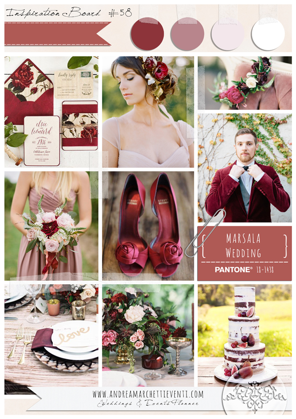 PANTONE Color Report Fall 2015 Marsala Wedding