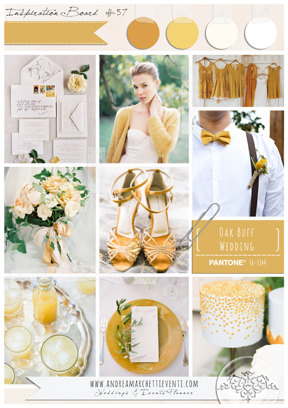 PANTONE Color Report Fall 2015 Oak Buff Wedding