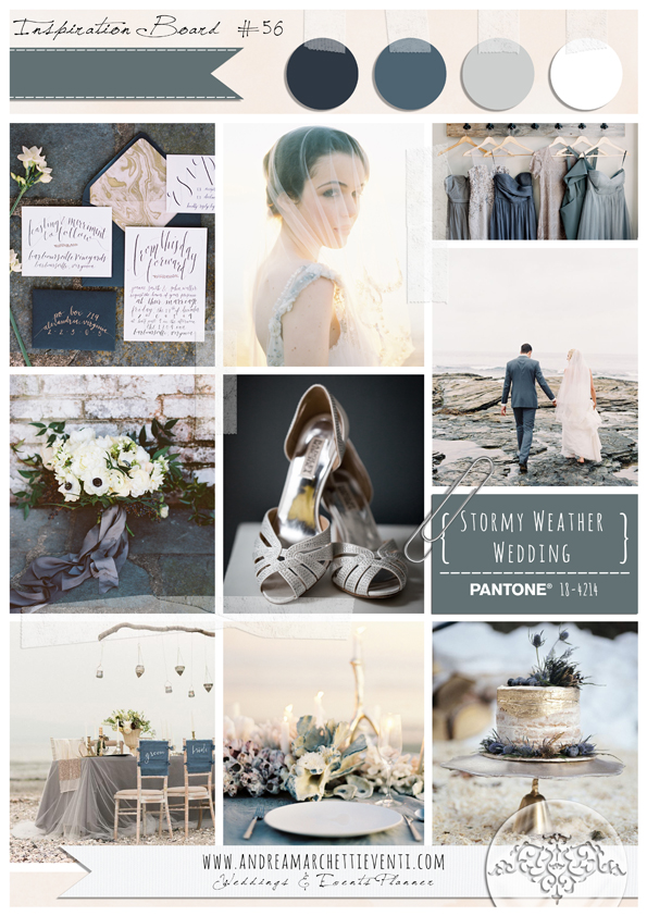PANTONE Color Report Fall 2015 Stormy Weather Wedding