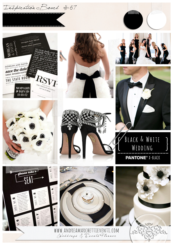 Matrimonio In Bianco E Nero : Matrimonio bianco e nero organizzazione