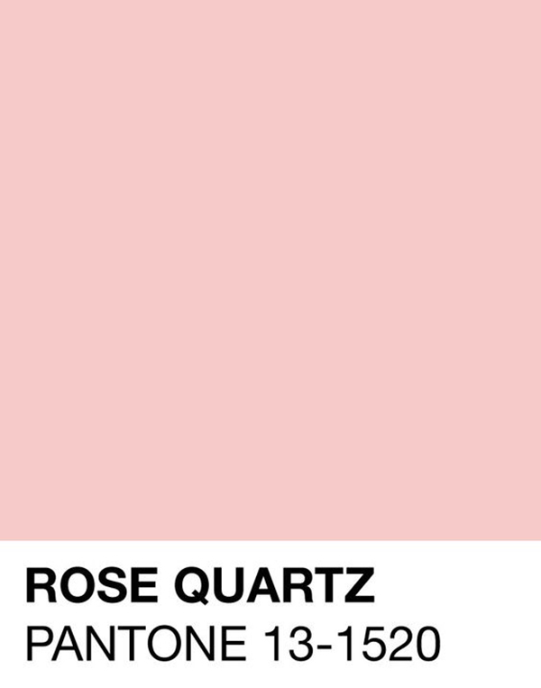 pantone color of the year rose quartz