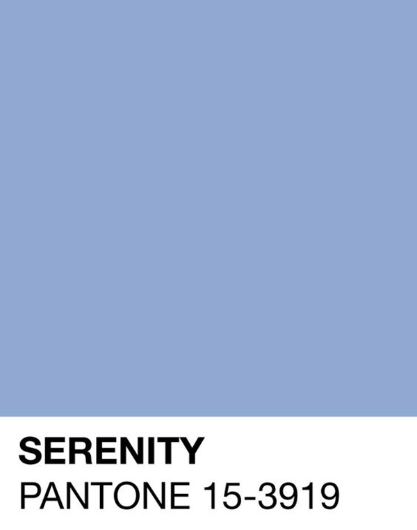 pantone color of the year serenity