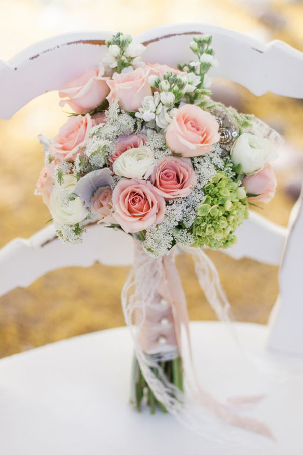 bouquet matrimonio shabby chic