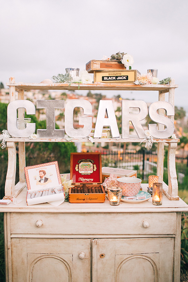 cigar bar matrimonio vintage