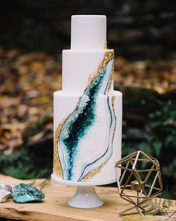 geode wedding cake matrimonio