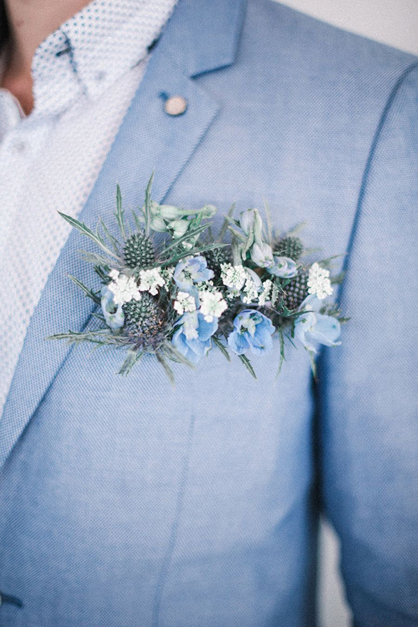 pocket square boutonniere sposo